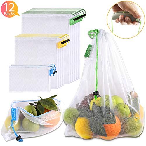Yipineco 2 Pack Net Stringa Di Cotone Shopping Bag Net riutilizzabile Shopping Tote per gr
