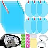 16 Pieces Car Rearview Mirror Film Anti Fog Glare Rain Waterproof Film Blind Spot Mirror Frameless Convex Rear View Mirror for Cars SUV Trucks Bus
