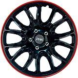 Jeu d'enjoliveurs J-Tec Hero GTR 14-inch noir/bord rouge