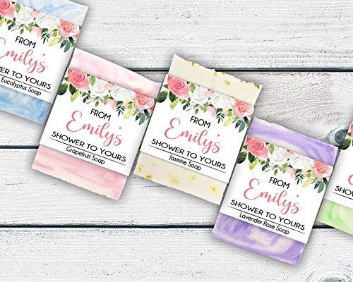 Pink Floral Bridal Shower Favors, Set of 10, Soap Favors For Bridal Shower