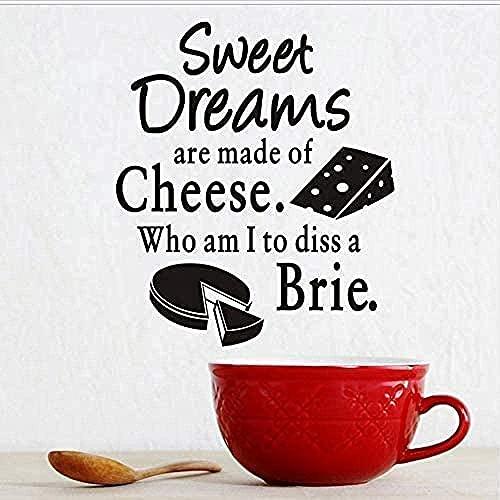 Pegatinas de pared vegetalde los sueños dulcesde quesopastel de queso del patrónde vinilo Adhesivos dedecoración del hogarpared de la cocina y piso de baldosas pegatinas43X50Cm