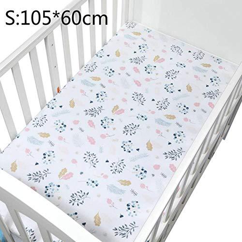 PENVEAT 100% Baumwolle Kinderbett Spannbetttuch Weiche Atmungsaktive Babybett Matratzenbezug Cartoon Neugeborenen Bettwäsche Für Kinderbett Größe 130 * 70 cm / 105 * 60, CLS0040-3, China