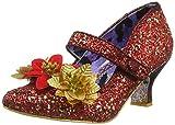 Irregular Choice Damen Jolly Holly Mary Jane Halbschuhe, Rot (Red/Gold A), 43 EU