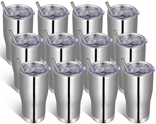 VEGOND 20oz Stainless Steel Tumblers Bulk Tumbler Cup with Lid And Straw Vacuum Insulated Double product image