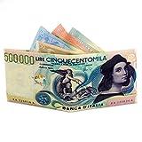 Paper wallet 500000 Lire - Portafoglio 500000 Lire - Antistrappo - Leggerissimo - Water resitent - Slim - Fatto in pretex laminato opaco - No Tyvek - Prodotto in attesa di brevetto