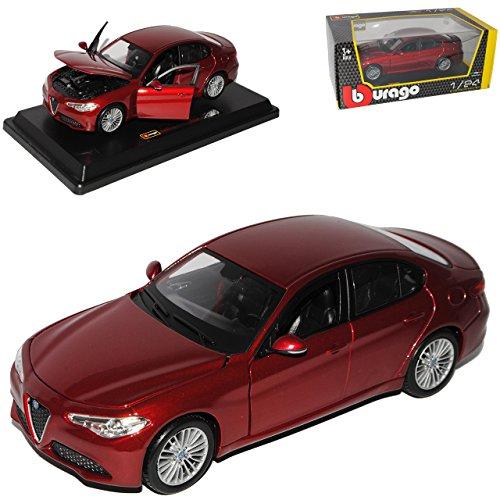 Bester der welt Bburago Alfa Romeo Giulia Typ 952 Limousine Rot Metallic 2016 Final Generation Modell 1/24…