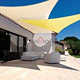 Patio Paradise 10' x 15' Beige Sun Shade Sail Rectangle Canopy - Permeable UV Block Fabric Durable Outdoor - Customized Available