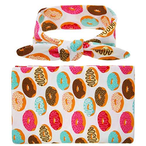 LTH-GD Gorra de Invierno y Sombrero Cabeza de Donuts for niños con Mantas Elástico Boho Turbante Estampado Turbante Twisted Head Wrap Hair Band (Color : C)