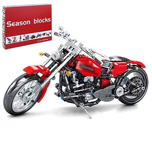 SESAY Juego de construcción para moto Harley, 782 piezas, compatible con la técnica de carreras Lego.
