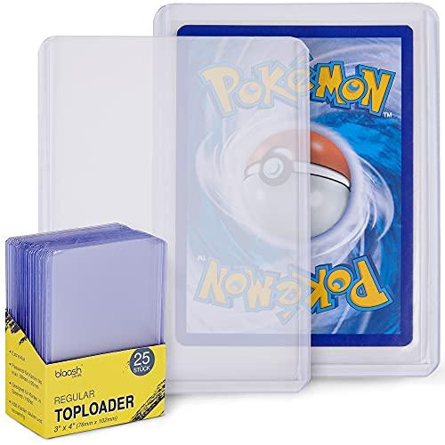 """blaash® Regular Toploader   25 Premium Schutzhüllen   3\""""x4\""""   Transparente Kartenhüllen für alle gängigen Spiel- und Sammelkarten wie Pokémon, YuGiOh, MTG, Match Attax   Extra Klar Kartenschutz"""