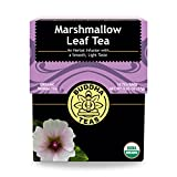 Organic Marshmallow Leaf Tea, 18 Bleach-Free Tea Bags – Caffeine Free Tea Supports Gastrointestinal Issues and Respiratory Health, Rich in Vitamins and Minerals, No GMOs