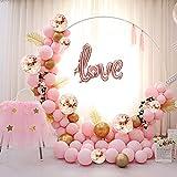 ATFUNSHOP Arche Ballon 5M - 117PCS Mariage Arche Ballon Or Rose Helium Ballon Confettis Ballon doré