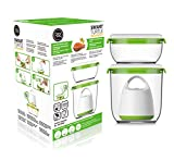 FOSA Vacuum Food Storage System Reusable Container Starter Set with Vacuum and 2 Reusable containers