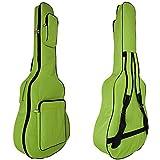 MINGZE 41' Funda para guitarra, bolsas de guitarra, bandolera ajustable a prueba de agua, variedad de colores (Verde)