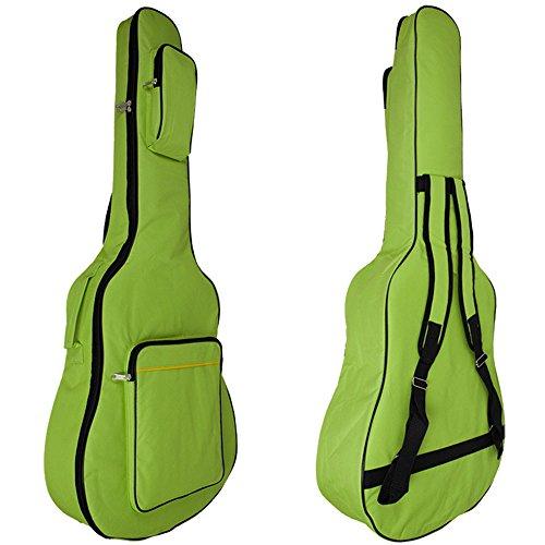 MINGZE 41 Zoll Gitarrentasche,Gitarren Gig Taschen,Plus Baumwolle dicke wasserdichte verstellbare Schultergurt Gitarre Rucksack, eine Vielzahl von Farben (Grün)