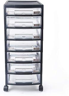 Gyubay Multifonction 7 Couches Tiroir Dossier Bureau Cabinet de Rangement à roulettes Panier Armoire de Rangement Chariot ...