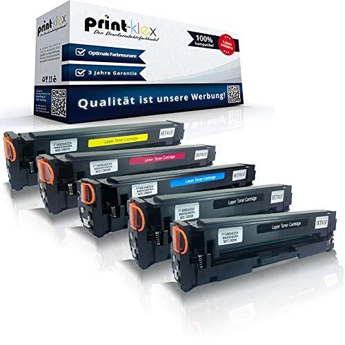 5 cartucce toner compatibili per HP Color Laserjet Pro M 452 Color Laserjet Pro M 452 DN Color Laserjet Pro M 452 dw CF410 CF411 CF412 CF413 Black Ciano Magenta Giallo - Office Plus Serie