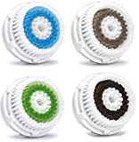 FIGHTART 4 paquetes de limpiador de poros profundos para reemplazar el sistema de limpieza clarisonic mia 1, mia 2, mia 3 (ARIA)