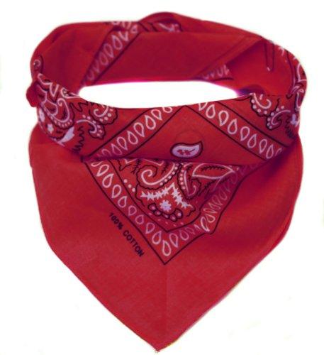 Oramics Bandana Koptuch Halstuch – 55 x 55 cm, gemustert: Paisley Muster – in verschiedenen Farben aus 100% Baumwolle, modernes Nikituch gegen Wind und Kälte (Rot)