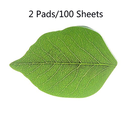 2 Pads Leaf Sticky Memo Notes,Interesting Self-Sticky Memo Notes Scratch Pads,Office Products , Notebooks ,Writing Pads,Self-Stick Notes
