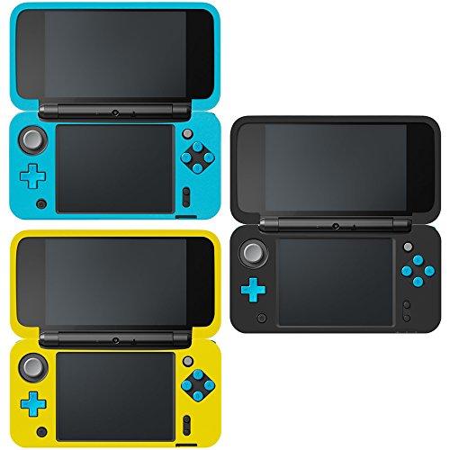 AFUNTA Funda Protectora para Nintendo New 2DS XL, Set de 3 Funda Antideslizante de Silicona para Consolas New 2DSXL con Comodida al agarrar la Consola- Negro, Azul, Amarillo