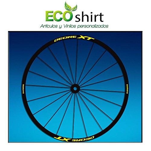 "Ecoshirt FG-RWYB-8VIX Felgenaufkleber Shimano Deore XT 26\"" 27,5\"" Am48 MTB Downhill, Gelb 27,5\"""