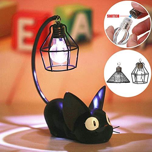 HXST LED Lampe de Nuit créative résine Chat Animal Lampe de Nuit Ornements décoration de la Maison Kitty Lampe de Table Enfants Dessin animé Lampe de Chambre,B
