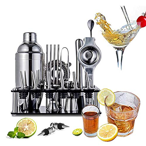 ANXIANG Cocktail glass stainless steel fittings 1 x 1 x stainless steel cup and mug screen display glass hob Hall cocktail gift sets for Christmas gifts (19)
