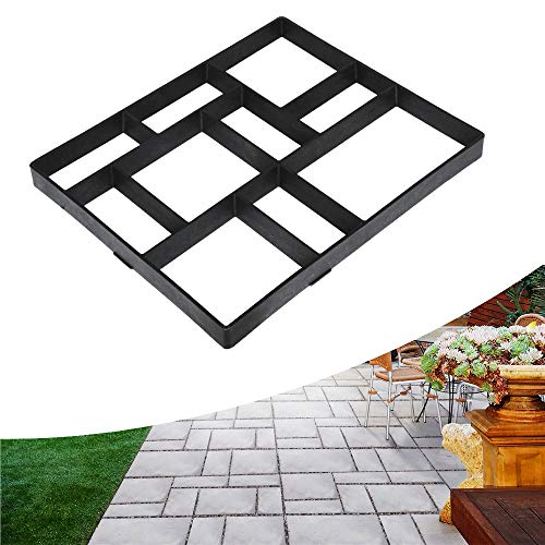 Topeakmart Concrete Mold Path Paving Pavement Mold Driveway Walk Maker Patio Concrete Stepping Stone-Durable and Easy to Use 23.8 x 19.9 x 1.7'' (LxWxH)
