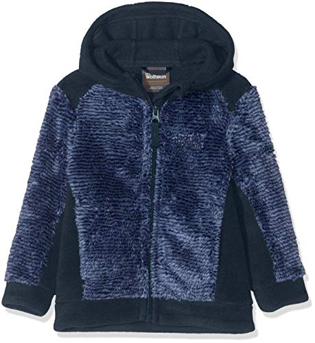 Jack Wolfskin Kinder Pine Cone Jacket Kids Fleecejacke, Night Blue Stripes, 128