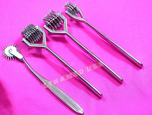 Premium German Wartenberg Pinwheel 1 3 5 and 7 Wheel Set of 4