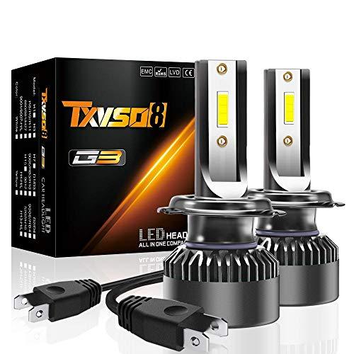 Vuffuw 2Pcs H7 15000LM LED Faros Delanteros Bombillas Cohces Lámpara luz 6000K, Impermeable IP68, Chips CSP súper brillantes