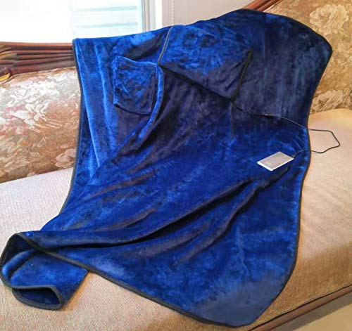Kirkwood Kitchen Heated Blanket, Soft Throw Heating Blanket for Couch Sofa with Portable USB Outdoor Blanket, Stadium Blanket, Picnic Blanket, Blue USB Heated Snuggie Blanket Traveling Warm Blankets