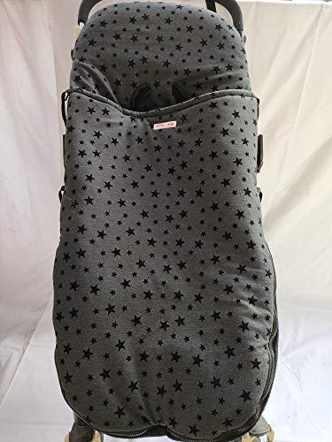Moon-BEBE Universal-Fußsack für Kinderwagen, Baumwolle SCHWARZ