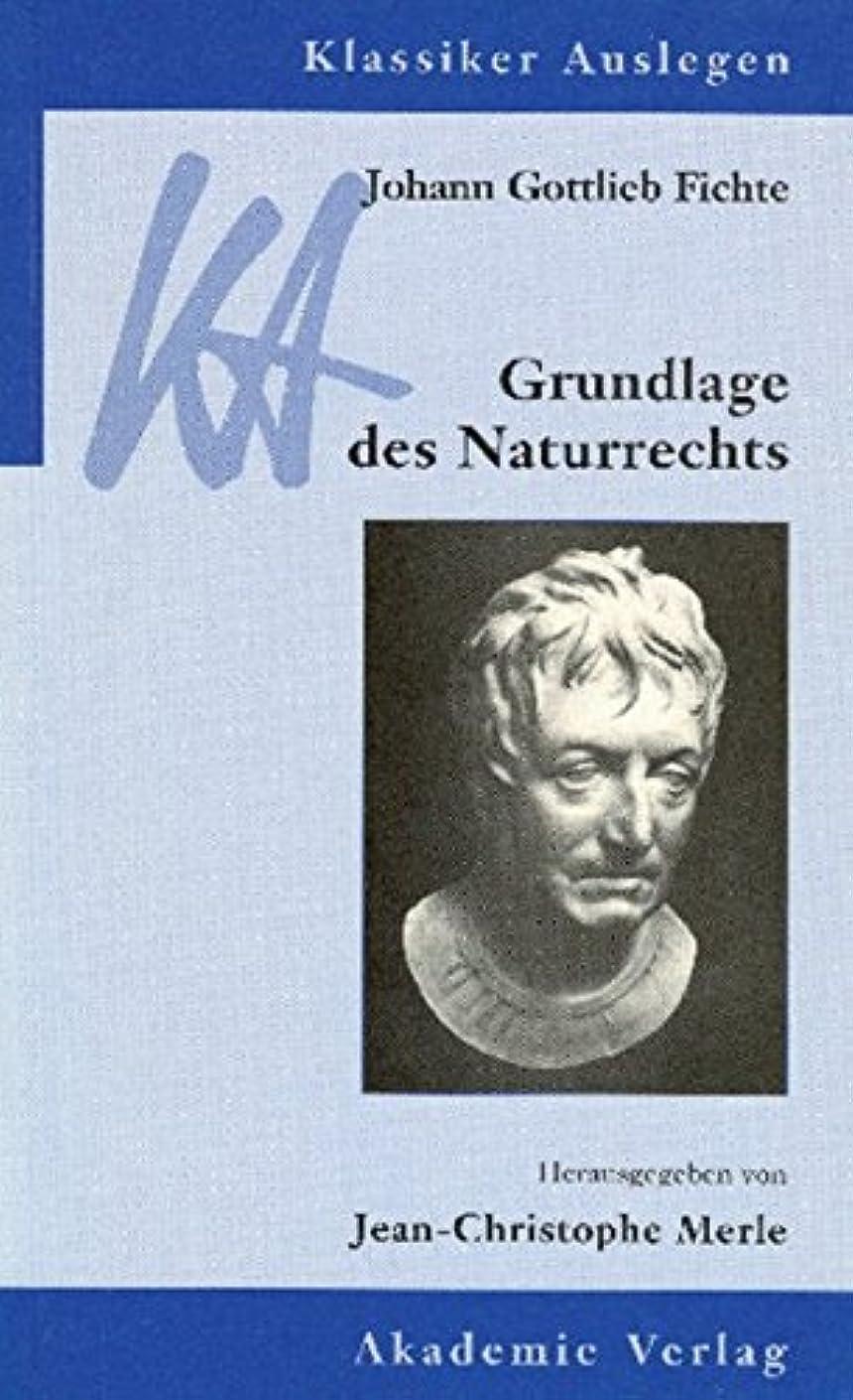 論文隠されたクロニクルJohann Gottlieb Fichte: Grundlage Des Naturrechts (Klassiker Auslegen)