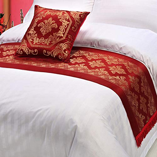 YYSWIM Bed Runner Scarf Bed Flag European star hotel simple modern jacquard home table flag bed flag mediterranean style model bed and bed bed towel & Barcelona@ 50 x 180CM /1.2 M bed