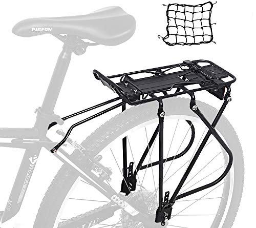 Dirza Bike Cargo Rack Rear Bike Rack for Back of Bike - Height Adjustable for 24