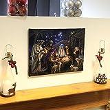 Nativity Scene Canvas with Light up LED bulbs