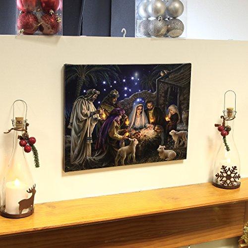 Premier Wandbild Weihnachtskrippe, mit LED-Beleuchtung