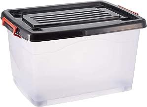 Lock & Lock Plastic 55000 ml Storage Box, Black and White