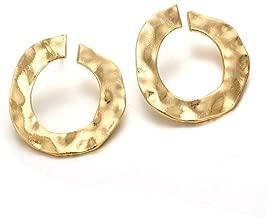 YOMXL Modern Women Girls Punk Metal Circle Earrings European American Style Twisted Round Ear Studs Irregular Curved Open Circle Earrings
