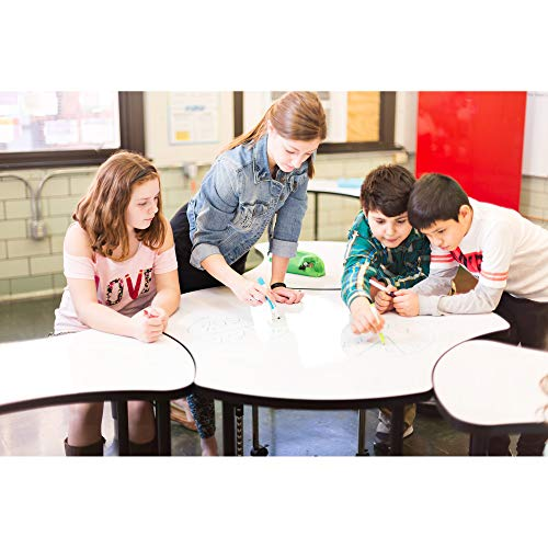 Learniture Structure Series Bow-Tie Mobile Collaborative Table w/Whiteboard Top