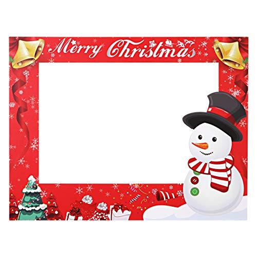 Amosfun feliz navidad marco de la cabina de fotos accesorios de la cabina de fotos de navidad diy papel selfie...