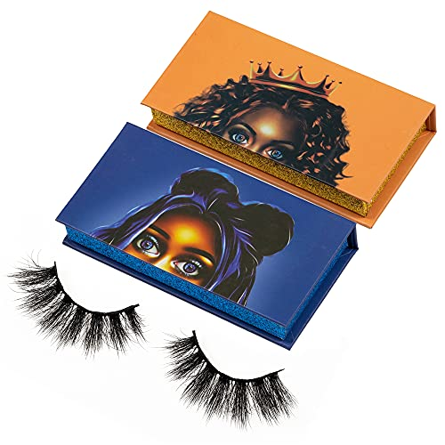New Styles Private Label Eyelash Packaging Boxes Beauty Box With Tray And Lashes… (Orange)