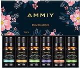 6 x 10 ml Set de aceites esenciales, Ammiy 100% Natural Puro Aromaterapia Aceite Aromático, Lavanda, Hierba de Limón, Menta, Eucalipto, Árbol de té