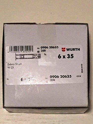 Würth Zebra Shark W-ZX - Taco (6 x 35 mm, 200 Unidades)