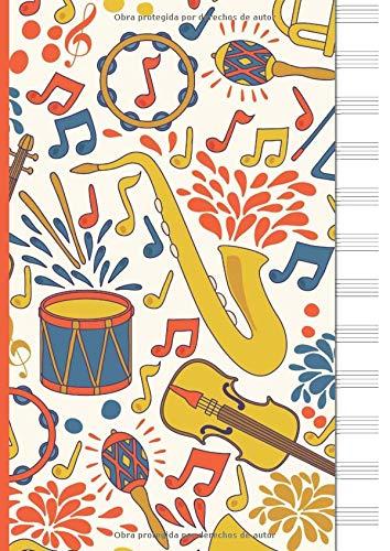 Libreta para Notacion Musical: Cuaderno de pentagramas - Musica Libreta A4 -...