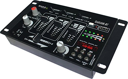 Ibiza Sound 15-2044 DJ21USB-BT Table de Mixage