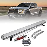 YITAMOTOR 48' 258W Amber White Extreme High Intensity Construction Emergency Warning Security Strobe Light Bar Low Profile Law Enforcement Rooftop Hazard Light Bar Compatible Tow Truck Vehicle