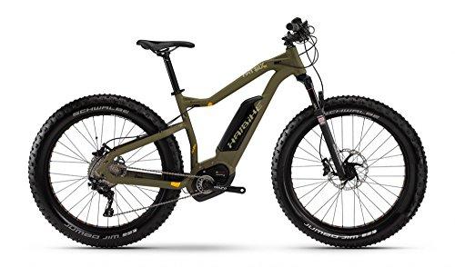 Haibike XDURO FatSix RX 26R Fatbike Mountain eBike 2016 (oliva/verde, 45)